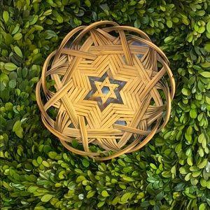 Vintage Star of David wall basket